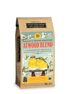 Atwood Blend Coffee Package With Yellow Finches