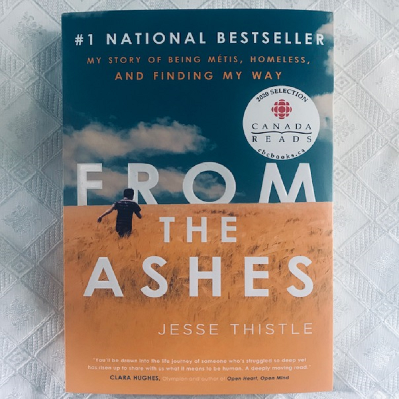 A picture of the From the Ashes book cover, white background.