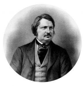 portrait of famed french writer Honoré de Balzac