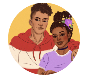 illustration of a young black couple from I wanna be where you are