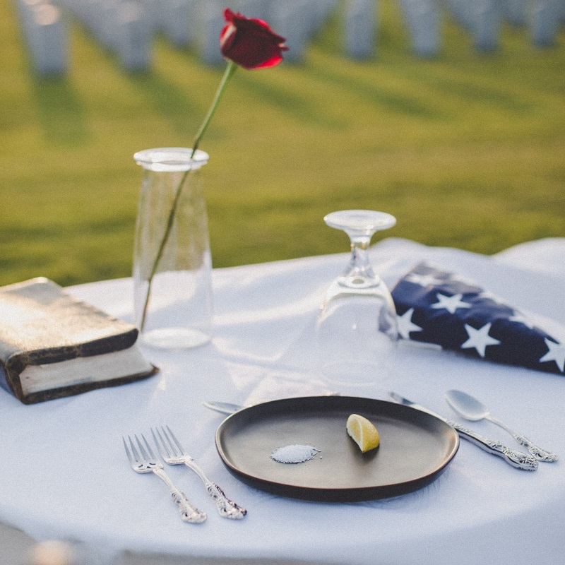 YA Memorial Day Reads at a table setting