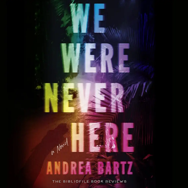 We Were Never Here book with black background